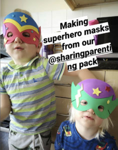 Happy families who have received a Sharing Parenting Resource Pack during lockdown.